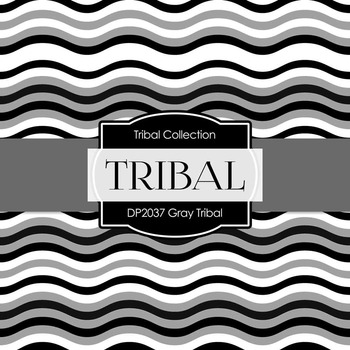 Digital Papers - Gray Tribal (DP2037)
