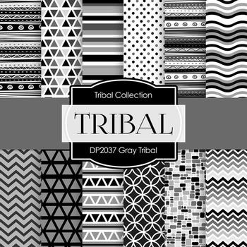 Digital Papers - Gray Tribal (DP2037)