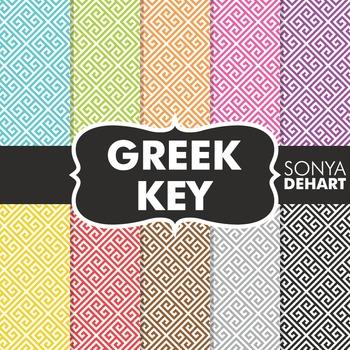 Digital Papers -  Greek Key
