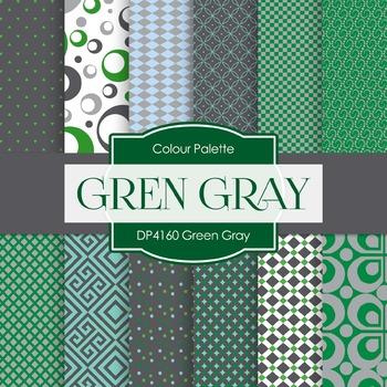 Digital Papers - Green Gray (DP4160)