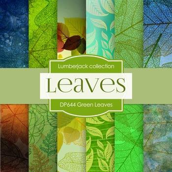 Digital Papers - Green Leaves (DP644)
