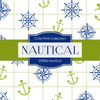 Digital Papers - Green Nautical (DP859)
