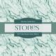 Digital Papers - Green Tone Stones (DP7144)