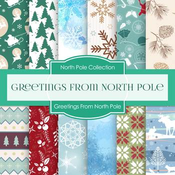 Digital papers greetings from north pole dp7006 by digital papers greetings from north pole dp7006 m4hsunfo