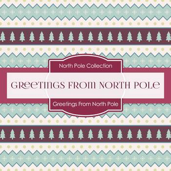 Digital Papers - Greetings From North Pole (DP7006)