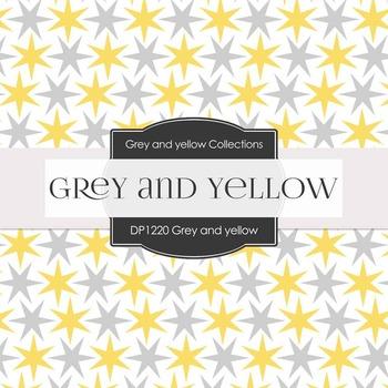 Digital Papers - Grey & Yellow (DP1220)