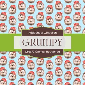 Digital Papers - Grumpy Hedgehog (DP6693)