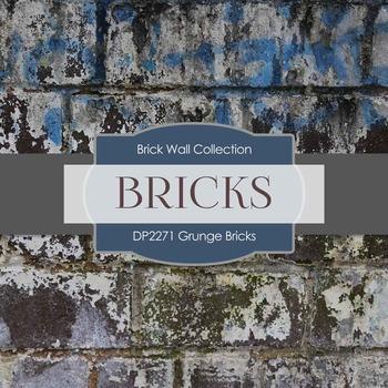 Digital Papers - Grunge Bricks (DP2271)