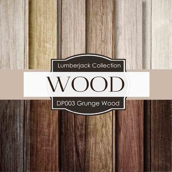 Digital Papers - Grunge Wood (DP003)