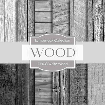 Digital Papers - White Wood (DP033)
