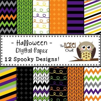 Digital Papers: Halloween