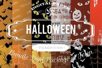 Digital Papers - Halloween Patterns Bundle Deal