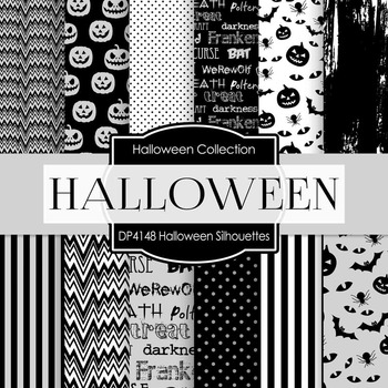 Digital Papers - Halloween Silhouettes (DP4148)