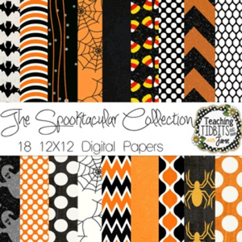 Digital Papers - Halloween Spooktacular Collection {Personal or Commercial Use}