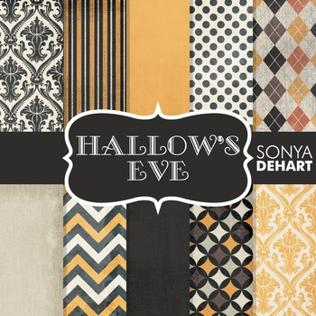 Digital Papers -  Hallow's Eve Halloween Patterns