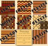 Digital Papers-Harvest {Brown, Tan, Orange, Red, Yellow 30