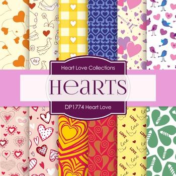 Digital Papers - Heart Love (DP1774)