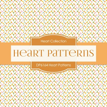 Digital Papers - Heart Patterns (DP6164)