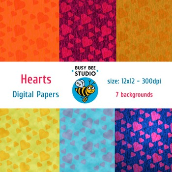 Digital Papers: Hearts