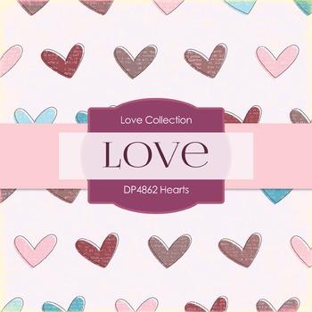 Digital Papers - Hearts (DP4862)