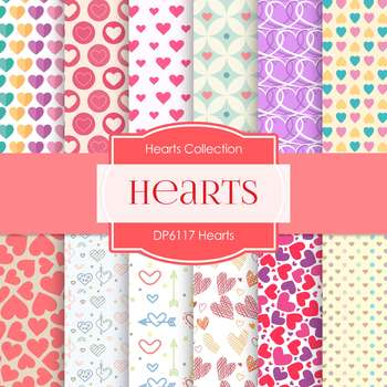 Digital Papers - Hearts (DP6117)