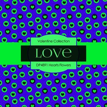 Digital Papers - Hearts Flowers (DP4891)