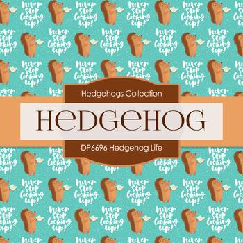 Digital Papers - Hedgehog Life (DP6696)