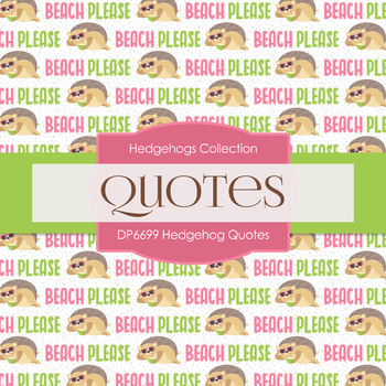 Digital Papers - Hedgehog Quotes (DP6699)