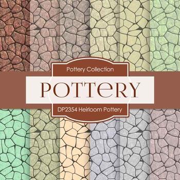 Digital Papers - Heirloom Pottery (DP2354)
