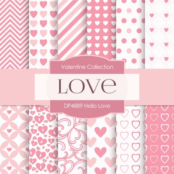 Digital Papers - Hello Love (DP4889)