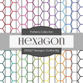 Digital Papers - Hexagon Outline Big (DP6267)