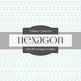Digital Papers - Hexagon Outline (DP6189)