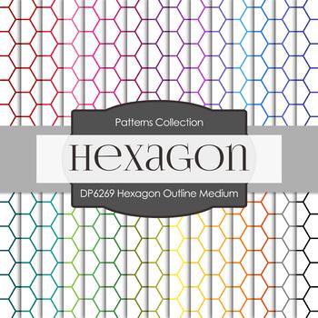 Digital Papers - Hexagon Outline Medium (DP6269)