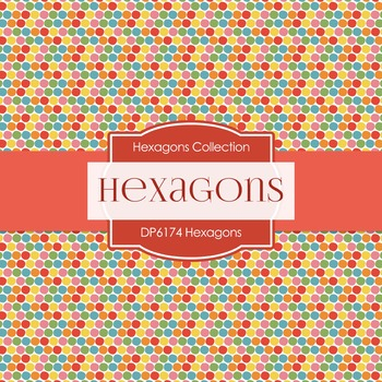 Digital Papers - Hexagons (DP6174)