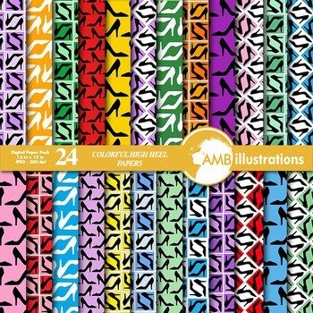 Digital Papers - High Heels Digital Paper and backgrounds, AMB-368