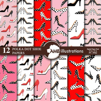 Digital Papers - High Heels Digital Paper and backgrounds,