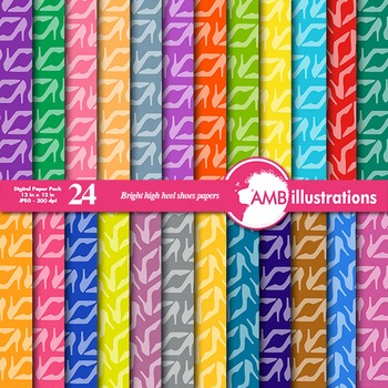 Digital Papers - High Heels Digital Paper and backgrounds, AMB-366