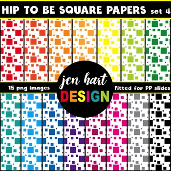 Digital Papers  {Hip To Be Square set 4}
