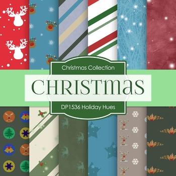 Digital Papers - Holiday Hues (DP1536)
