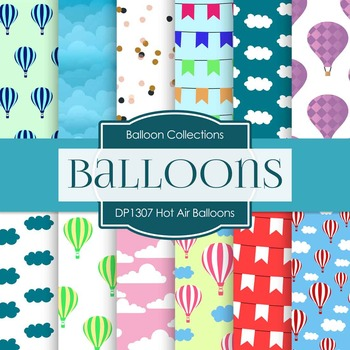 Digital Papers - Hot Air Balloons (DP1307)