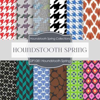 Digital Papers - Houndstooth Spring (DP1018)