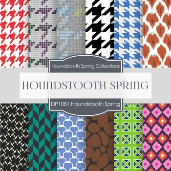 Digital Papers - Houndstooth Spring (DP1018)