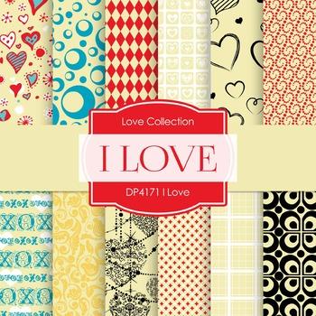 Digital Papers - I Love (DP4171)