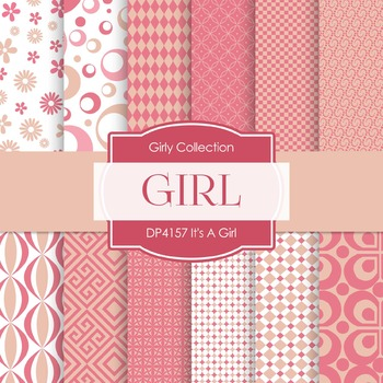 Digital Papers - It's A Girl (DP4157)