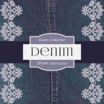 Digital Papers - Jeans Lace (DP2447)