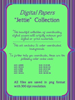 Digital Papers Jettie Collection