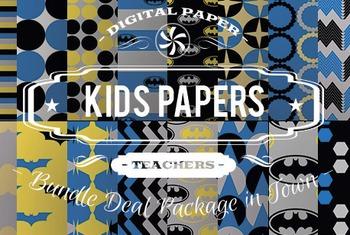 Digital Papers - Kids Patterns Bundle Deal