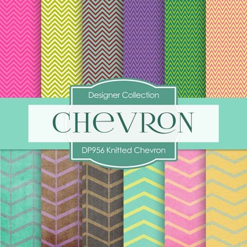 Digital Papers - Knitted Chevron (DP956)