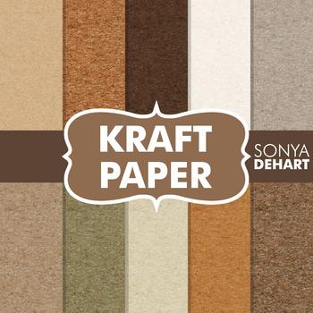 Digital Papers -  Kraft Paper Textures