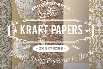 Digital Papers - Kraft Patterns Bundle Deal